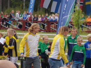 U10-mila Gustav och Helena